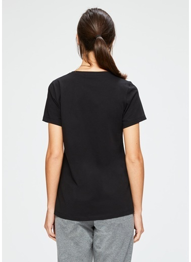 Dagi V Yaka Kısa Kollu T-Shirt Siyah